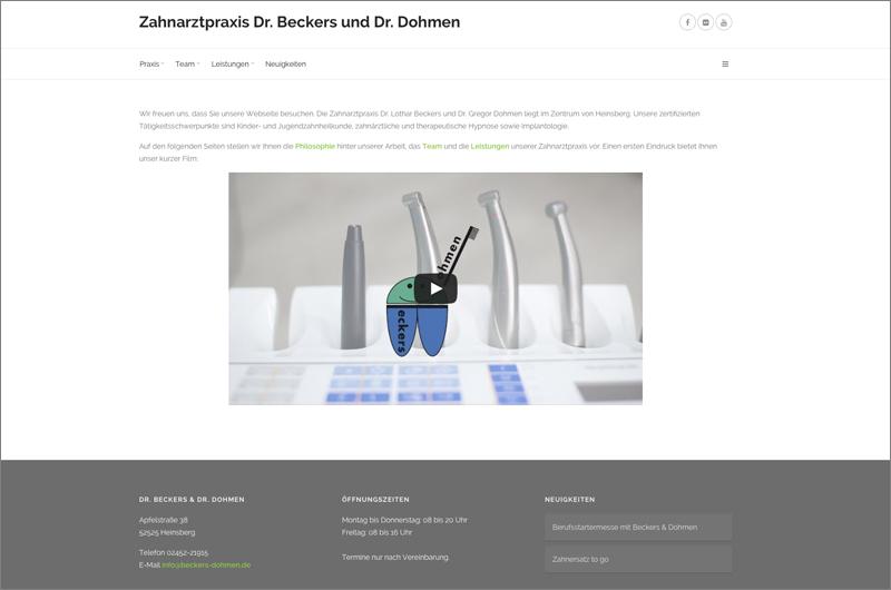 Zahnarzt Heinsberg + Relaunch Webseite
