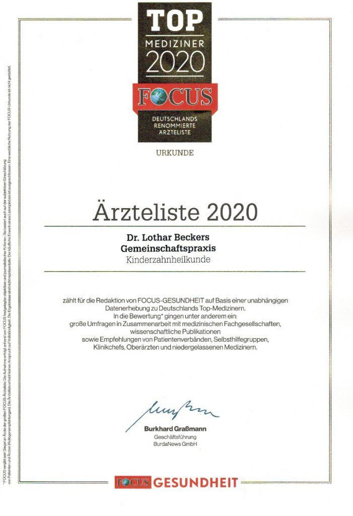 Zahnarzt-Heinsberg - Focus Bestenliste 2020